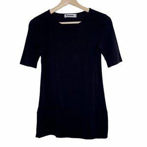 Jil Sander Side Slit T-Shirt Top Spandex Cotton S